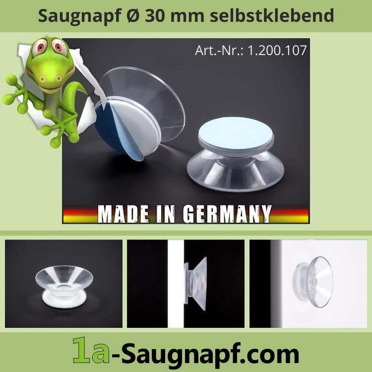 Sauger 30 mm Klebefläche 23 mm | Saugnapf | Saugnäpfe | selbstklebend