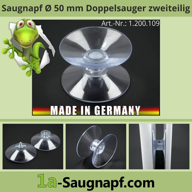 Doppelsaugnapf 50 mm Saugnäpfe Saugnapf Doppelseitig | zweiteilig
