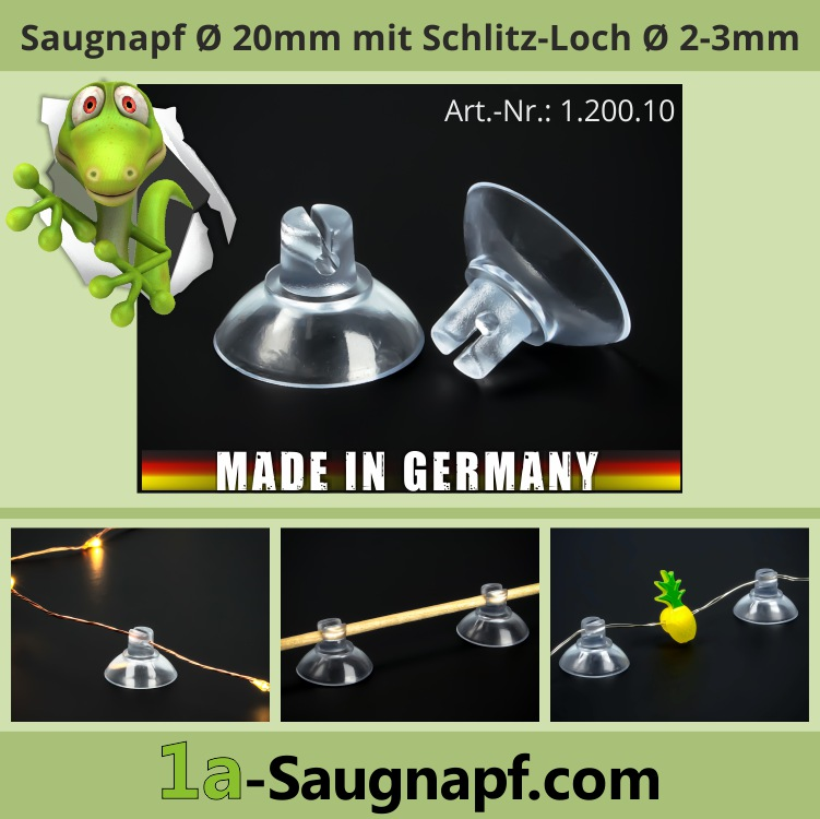 Saugnapf mit Schlitz Loch für Navigationsgeräte oder Lichterketten
