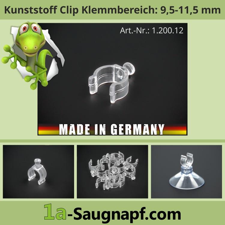 Saugnapf Clip Klemme für Lichterketten oder Rohre klein KB: 9,5-11,5mm