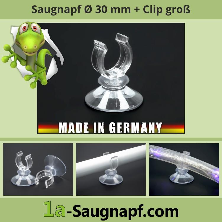 Saugnapf mit großem Clip | groß