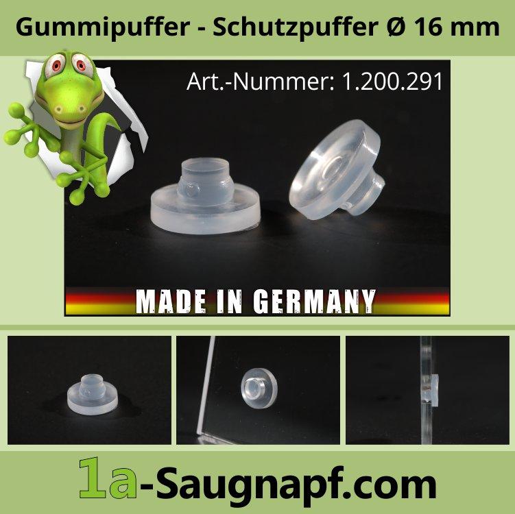 Gummipuffer Ø 16 mm Schutzpuffer Auflagegummi Glasplatten Glastisch