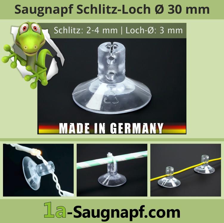 Saugnäpfe 30mm Bohrung | Schlitz | Lichterketten | Kabel | Kabelbinder | Weihnachtsdeko