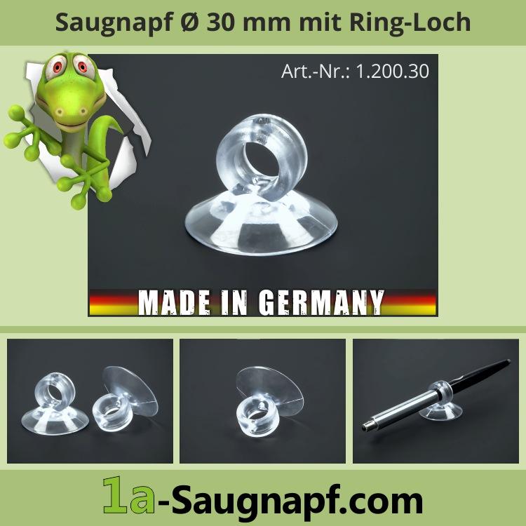 Saugnäpfe 30 mm Kragen-Loch für Schläuche | Stifte | Deko | Saugnapf