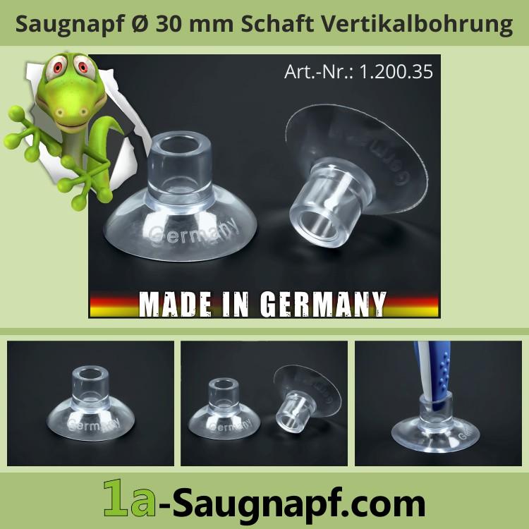 Saugnapf 30 mm mit Schaft-Vertikalbohrung | Saugnäpfe | Spielzeugpfeil