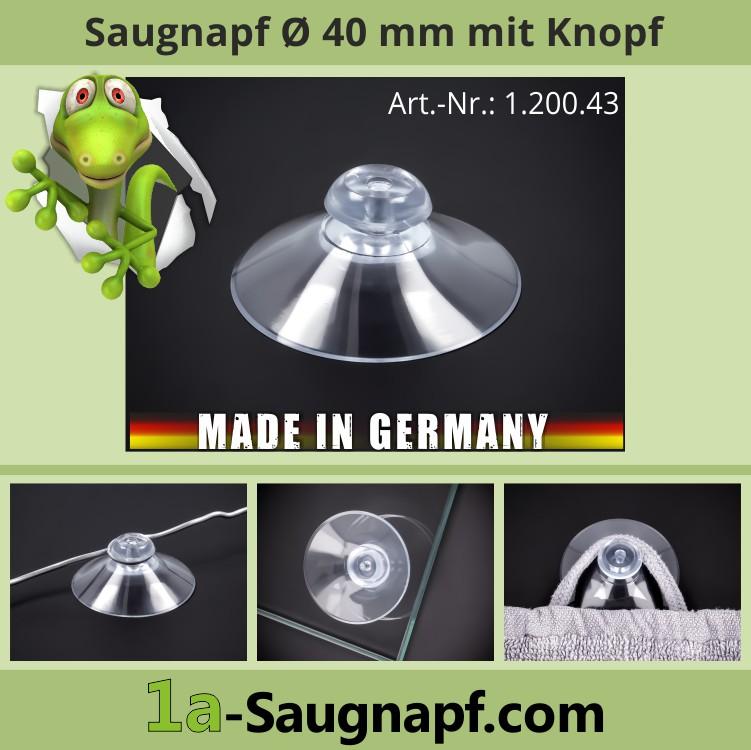 Saugnapf 40 mm mit Knopfausbildung | Saugnäpfe | Kopf
