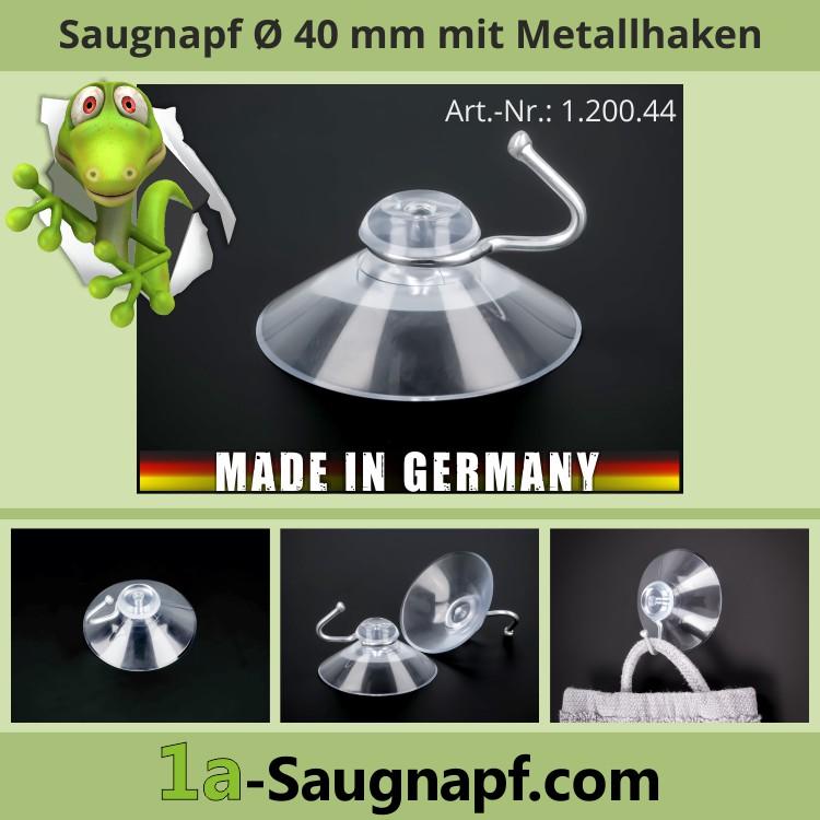Saugnapf mit Metallhaken