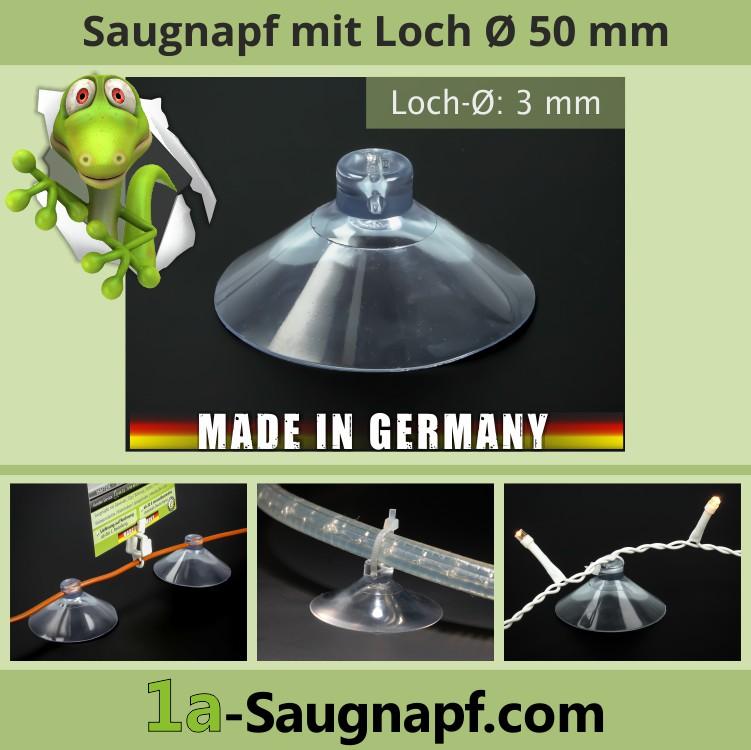 Saugnapf mit Loch 3 mm
