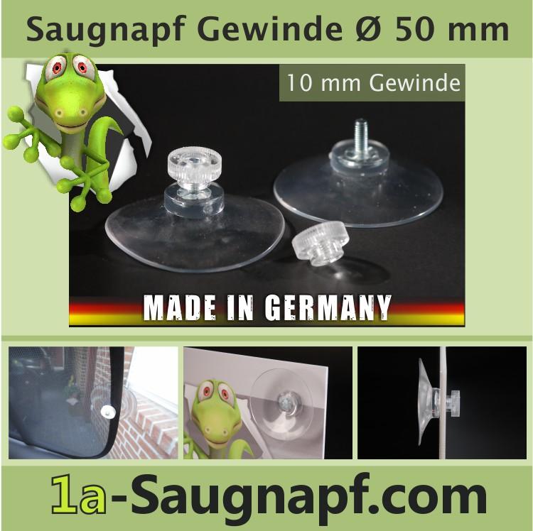 Saugnapf mit Gewinde 50 mm