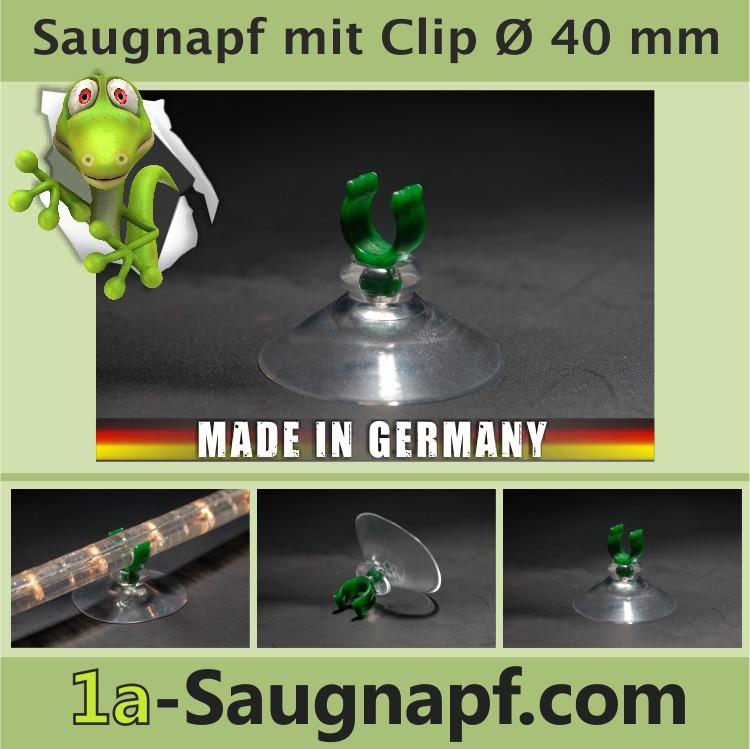 Saugnäpfe mit Clip für Lichterketten