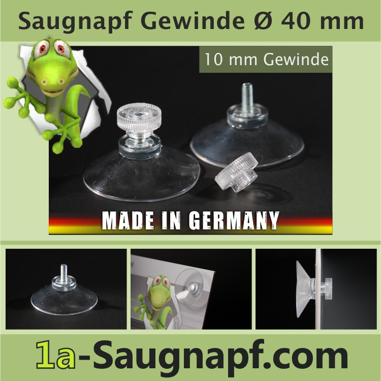Saugnapf mit Gewinde 40 mm
