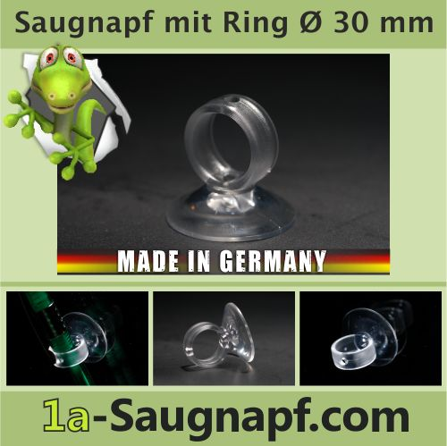Saugnapf mit Ring - Loch