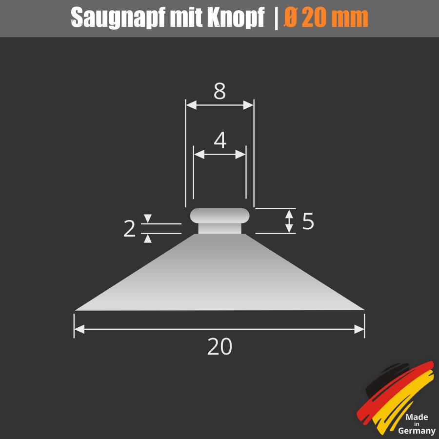 Saugnapf mit Knopf