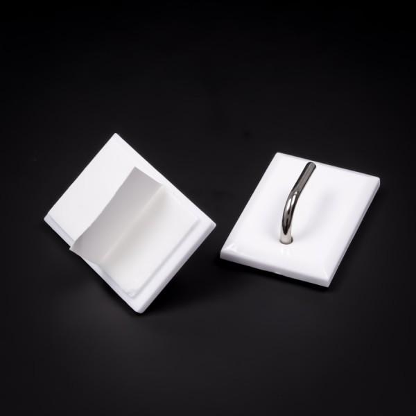 Gardinenhaken selbstklebend 31x21mm Klebehaken Metall Kunststoff 0,3kg