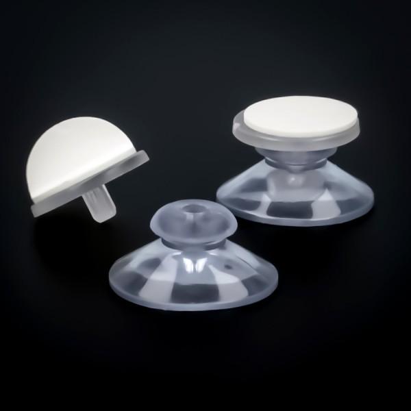 Saugnäpfe 30 mm mit Haftfläche | selbstklebend | Sauger | Saugnapf