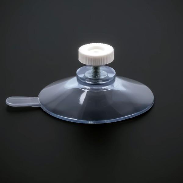 Saugnäpfe 50 mm mit Lasche | Gewinde M4x6 mm Mutter weiss | Saugnapf