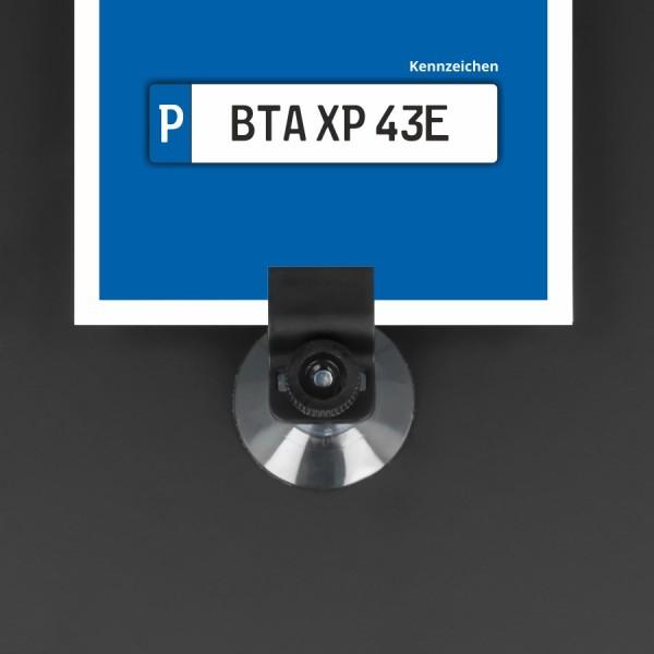 Parkausweishalter Kartenhalter Saugnapf+Mutter Auto-Scheibe | Gripper
