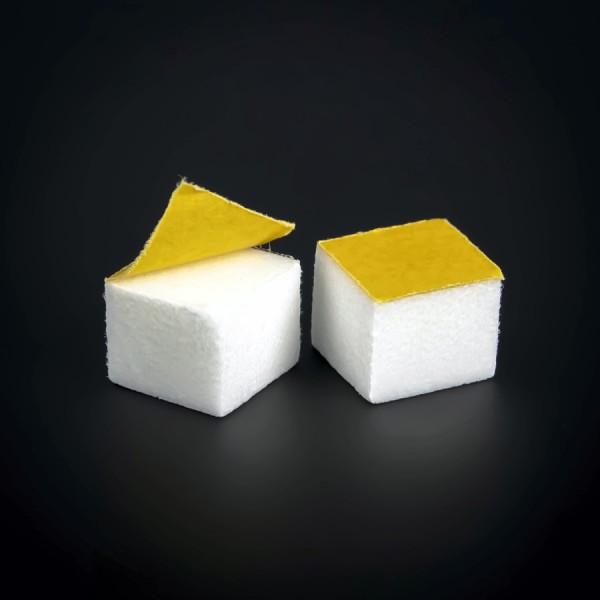Schutzpuffer Schaumstoff klebend | Wandpuffer 15x15mm WA: 12mm | Weiß