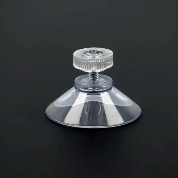 Saugnäpfe 40mm mit Gewinde M4x10mm+Mutter klar | Saugnapf für Schilder