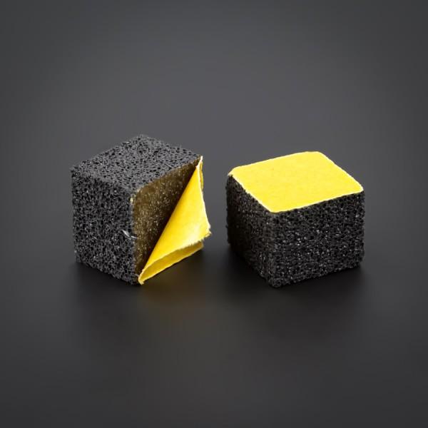Schaumstoff Wand-Puffer klebend | Wandpuffer 15x15mm WA:12mm | schwarz