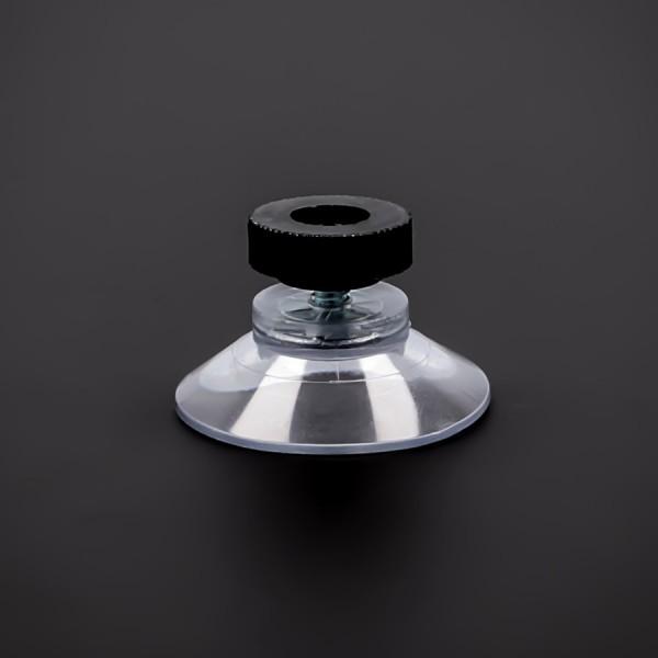 Saugnäpfe 30mm mit Gewinde-Schraube M4x6mm + Mutter schwarz | Saugnapf