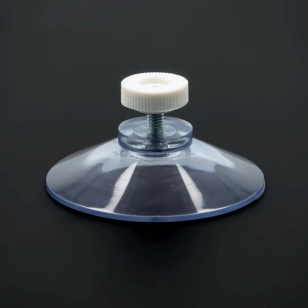 Saugnäpfe 50 mm Gewinde M4x10mm+Mutter weiß | Nummernschildbefestigung