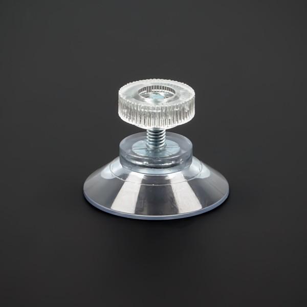 Saugnäpfe 30 mm mit Gewinde M4x10 mm + Rändelmutter klar | Haftsauger