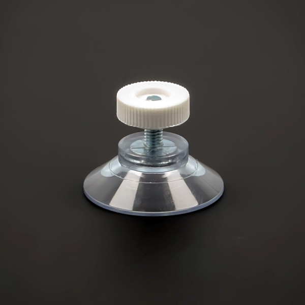Saugnäpfe 30 mm+Gewinde-Stift M4x10 mm + Rändelmutter weiß | Saugnapf