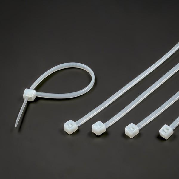 Kabelbinder 100x2,5 mm für Saugnäpfe mit Loch | Schlitz | Bohrung
