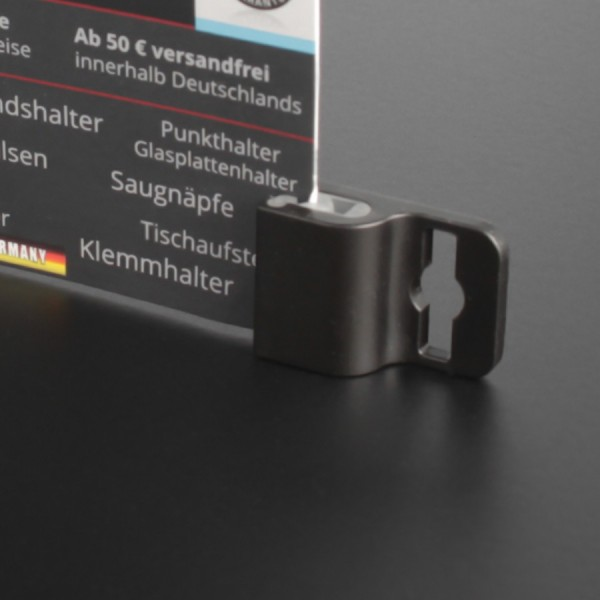 Ausweishalter Kartenhalter für Saugnapf oder Band 17x25 mm Gripper