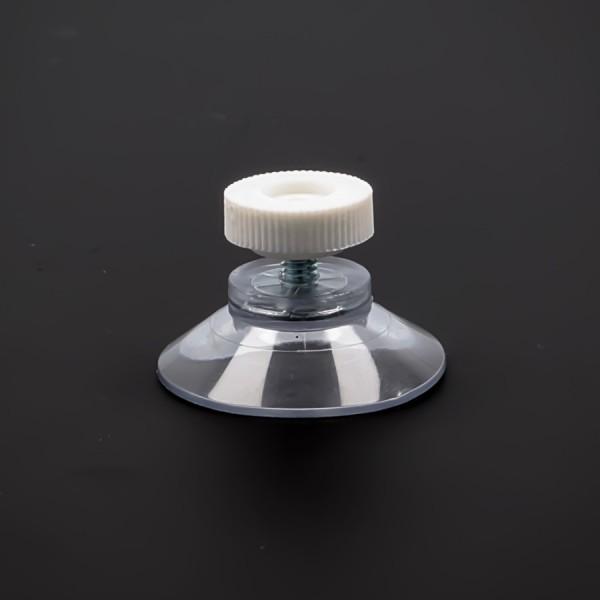 Saugnäpfe 30 mm mit Gewindeschraube M4x6 mm + Mutter weiß | Saugnapf