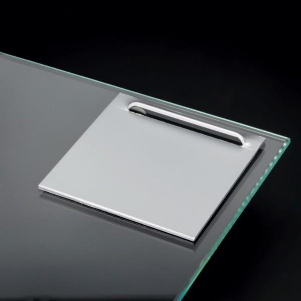Spiegelhalterung  Kieme bis 3 kg | selbstklebend | Ösenbleche 70x70 mm