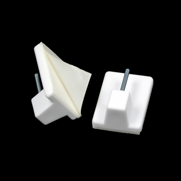 Gardinenhaken selbstklebend 19x28mm Klebehaken Kunststoff Metall 0,4kg